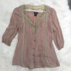 Medium Wet Seal Tan Blouse